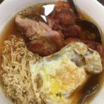 chicken chop instant noodles hk breakfast