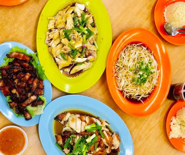 chicken rice lou wong ipoh taugeh