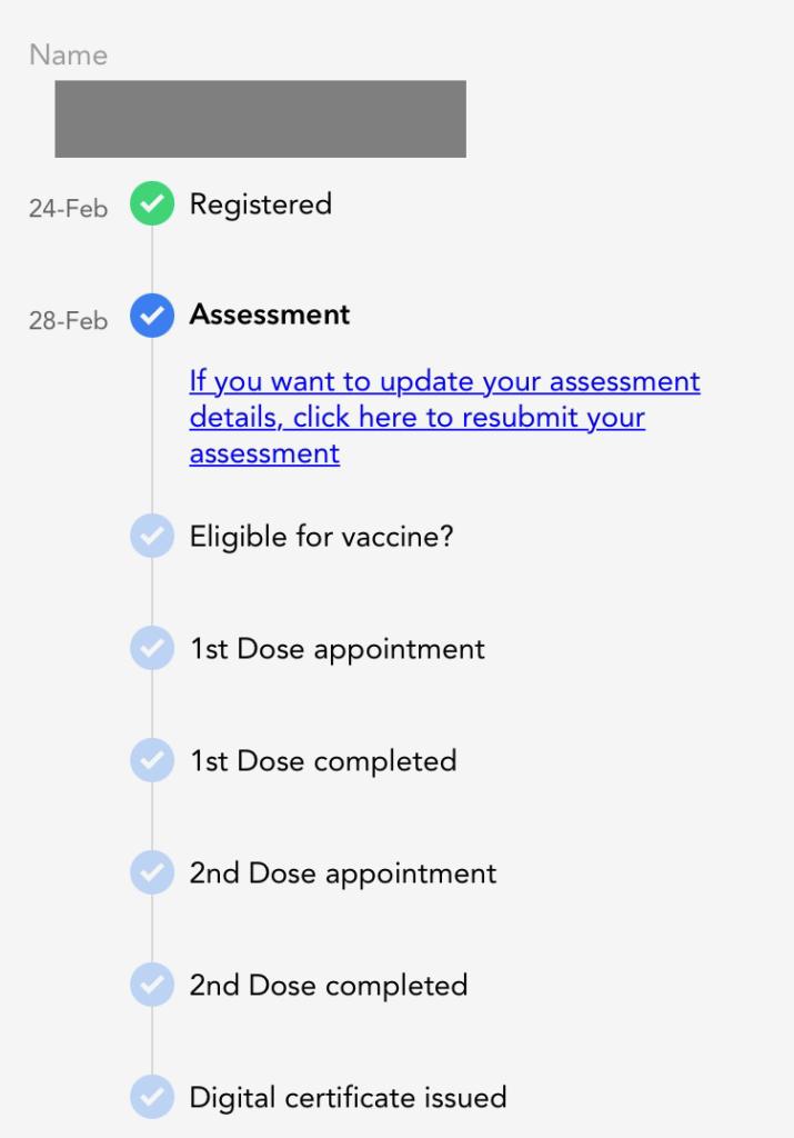 registered covid vaccine mysejahtera