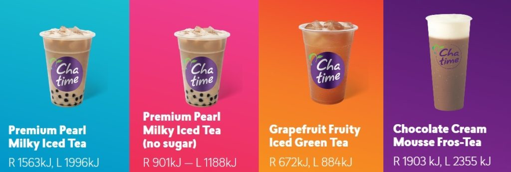 chatime nutrition calories
