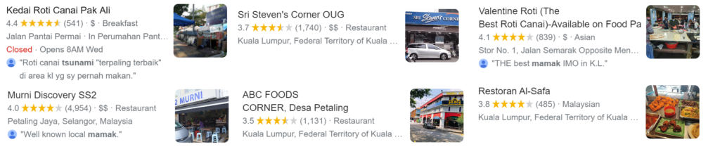 best mamak food in klang valley on delivery