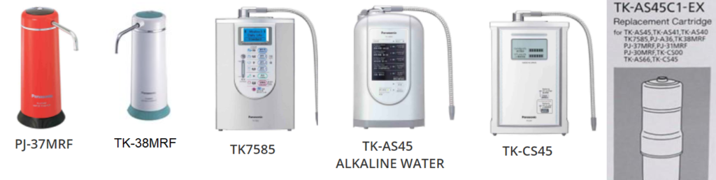 panasonic water purifiers that use TK-AS45C1 cartridge