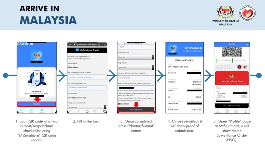 check in mysejahtera travel malaysia